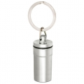 ALUMINIUM PILLBOX KEYRING