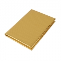 NOTEBOOK METALIC ROMBO ORO