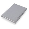NOTEBOOK METALIC ROMBO PLATA