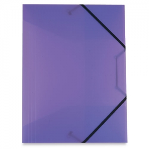 FOLDER SILVER WITH ELASTIC BANDS
