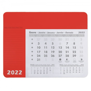 ALFOMBRILLA CALENDARIO ROJO