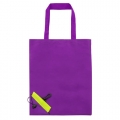 AUBERGINE FOLDING SHOPPING BAG