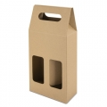 OPEN CARTON BOX 2 BOTTLES