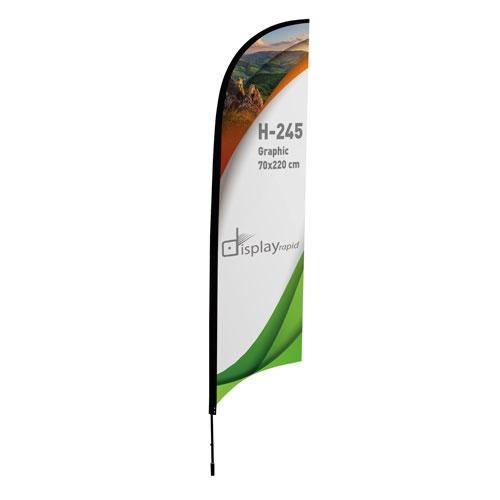 SAIL SHAPED FLAG HOLDER