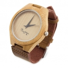 WATCH BAMBOO NATURAL LEATHER