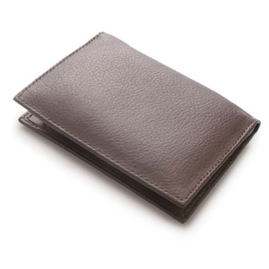 SOFT LEATHER CARD CASE WITH PAPER BLOC
