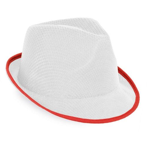 WHITE PREMIUM HAT WITH BORDER