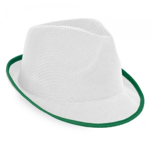 WHITE PREMIUM HAT WITH BORDER