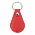 OVAL IMITATION LEATHER KEYRING
