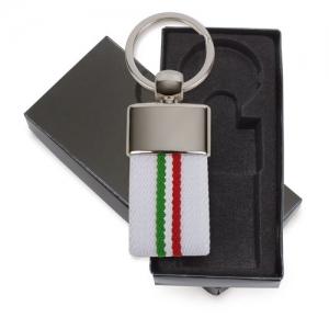 LLAVERO CEINTURE DRAPEAU ITALIE BLANCO