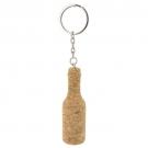 3D cork key-ring bottle-shaped