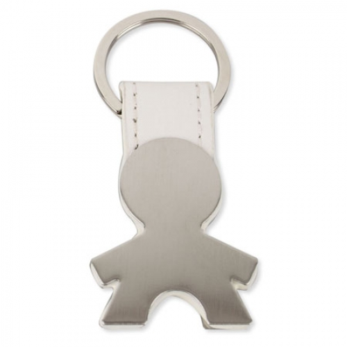BOY SHAPED METAL KEY-RING