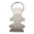 GIRL SHAPED METAL KEY-RING