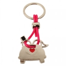 JUST MARRIED SHAPED KEY-RINGRING