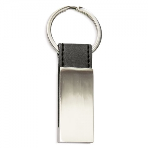 LEATHER IMITATION METAL KEY-RING