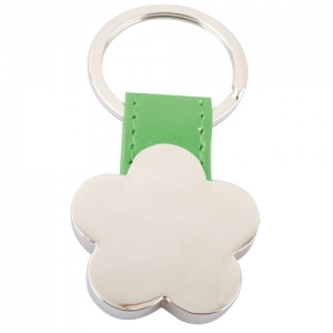 FLOWER SHAPED METAL KEY-RING