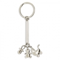 CHARMING BAPTISME SHAPED METAL KEY-RING