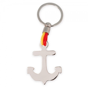 FLAG ANCHOR METAL KEY-RING