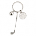 METALLIC KEYRING GOLF