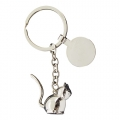 CAT METAL KEY RING