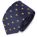 NAVY BLUE SPAIN FLAGPOLE TIE