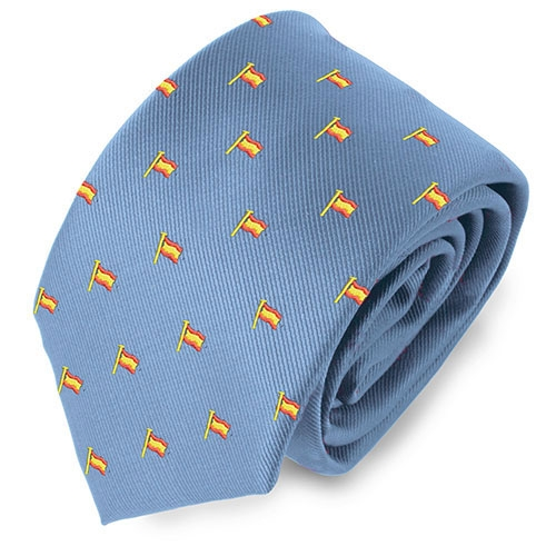 LIGHT BLUE ESPAGNE FLAGPOLE TIE