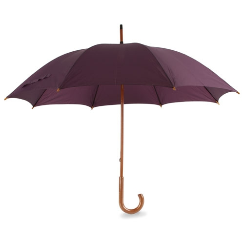 GREY WOODEN HANDLE WALK UMBRELLA