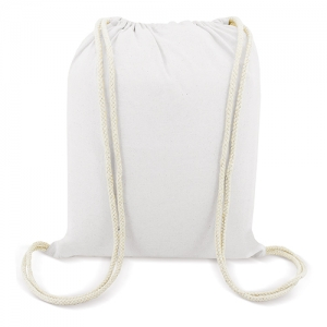 WHITE COTTON BACKPACK