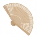 SUMIR PERFORATED WOODEN FAN (WOODEN COULOUR)
