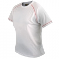 D&F RED SEWING WHITE T-SHIRT