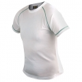 D&F GREEN SEWING WHITE T-SHIRT