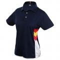 WOMAN CN SPAIN COLUMNS NAVY POLO