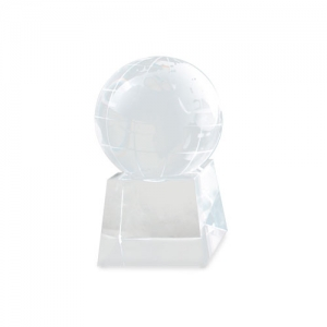 WORLD SHAPED GLASS TROPHÉE