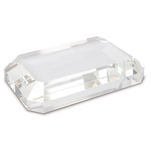 BEVELED PAPERWEIGHT GLASS