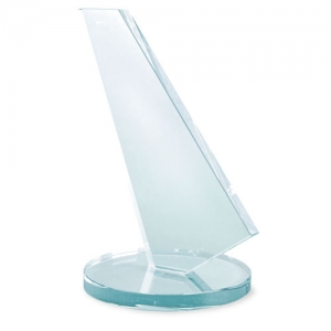 SAILING SHAPED GLASS TROPHY