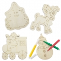 SET PIEZAS MADERA HAPPY CHRISTMAS ( 4 PCS)