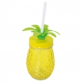 GLASS MUG PINEAPPLE