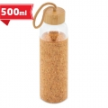 Glass bottle with bamboo/cork lid