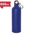 Aluminium bottle 800 ml with carabiner