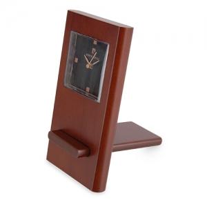 WOODEN TABLE CLOCK P.CARDIN