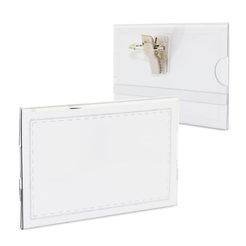 CARD HOLDER WITH SAFETY CLIP