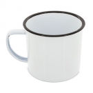 enameled metal cup with edge