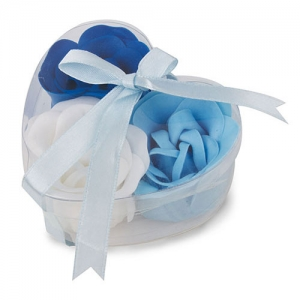 BLUE ROSES HEART SHAPED CASE