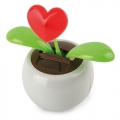 ECO SOLAR HEART POT