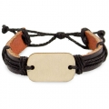 WOOD/LEATHER BRACELET