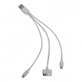 CABLE USB 3 EN 1 BLANCO