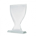 CUP SHAPED GLASS TROPHY