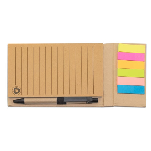 NOTEBOOK WITH PAGE MARKER AND PEN