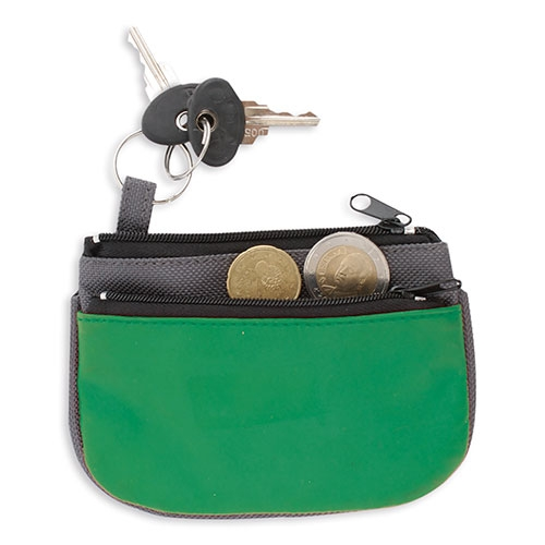DOUBLE ZIP PURSE + KEY RING