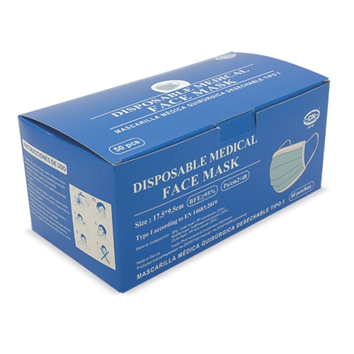 TYPE I DISPOSABLE SURGICAL MEDICAL MASK